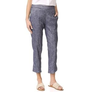 Theory Thorina Tierra Linen Washed Crop Flare Pant